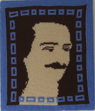 Baba in brown & blue